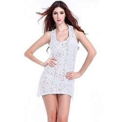Lace/Polyester Sexy Solid Color Cut Out Cover-Ups