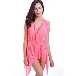 Nylon Polyester Fashion Solid Color Cover Ups