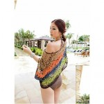 Stylish Sexy Colourful Hollow-out Kintwear Beach Coat
