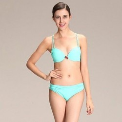 Sexy Green with Rhinestone Swimwear Uk For Women Bikini Set