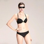 Sexy Black with Rhinestone Swimwear Uk For Women Bikini Set