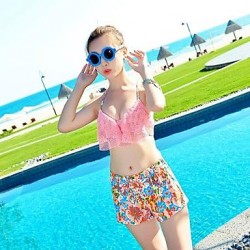 Sexy Push Up Bikini Padded High Quality Flower Print Bathing Suit