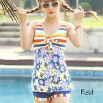 Fashion Floral Print Gather Swimwear Uk For Women(More Colors)