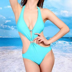 Sexy WomanSummer New Backless Cut Out Swimsuit Uk For Women One Piece Swimsuit Uk For Women