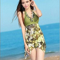 Fashion New Halter Keep Skirt One Pieces