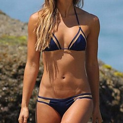 Fashion Push Up Nylon And Spandex Pure Color Brazilian Sexy Beach Swimwear Uk For Women Bikini Set
