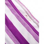 RELLECIGA Kaleidoscope Collection – Purple & White Stripe Twist Bandeau Top with Removable Halter Strap