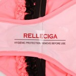 RELLECIGA Sexy Young Girl Bikini Set - Bright Fuchsia Bandeau Top with Coffee Brown Ruffle Details