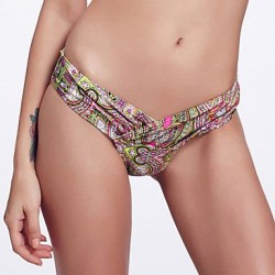 The Fille Folded deep V Shaped/Unique Wrap Front/Paisley Wintersweet Bottoms of Bikinis