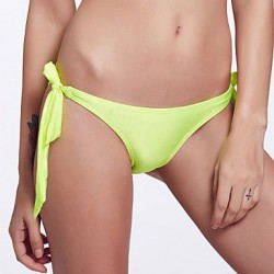 The Fille Adjustable Stripped /Neon Green Triangle Bottoms of Bikinis
