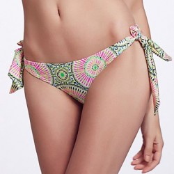 The Fille Adjustable Stripped /Paisley Floral Stamping Bikini Panties