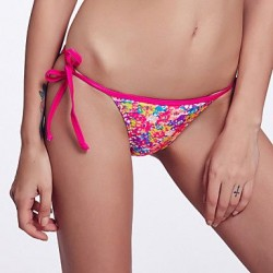 The Fille Adjustable Stripped /Retro Printed Bikini Triangle Panties