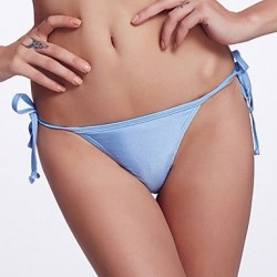 The Fille Adjustable Stripped /Fluorescent Blue Bikini Triangle Panties