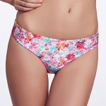 The Fille Reversible/Low rise/Watercolor Printed&Fluorescent Green Brazil Bikini Panties
