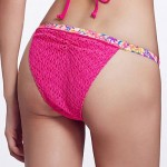 The Fille Mosaic Multi-color /Low Rise/Floral Printed /Rose Red Bikini Triangle Panties
