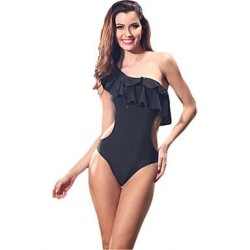 Sexy One-pieces Swimwear Uk For Women Swimsuit Uk For Womens Bathing Suits Beachwear Underwire Padless Ruffle Hollow