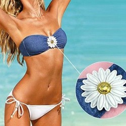 Push Up Solid Bandage Halter Bikinis