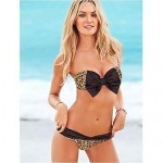 Polyester Polka Dot Bowknot Sexy Bikinis Swimwear Uk For Women with Pad