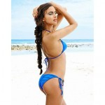 Polyester Solid Sexy Bikinis Swimwear Uk For Women with Beads Decoration