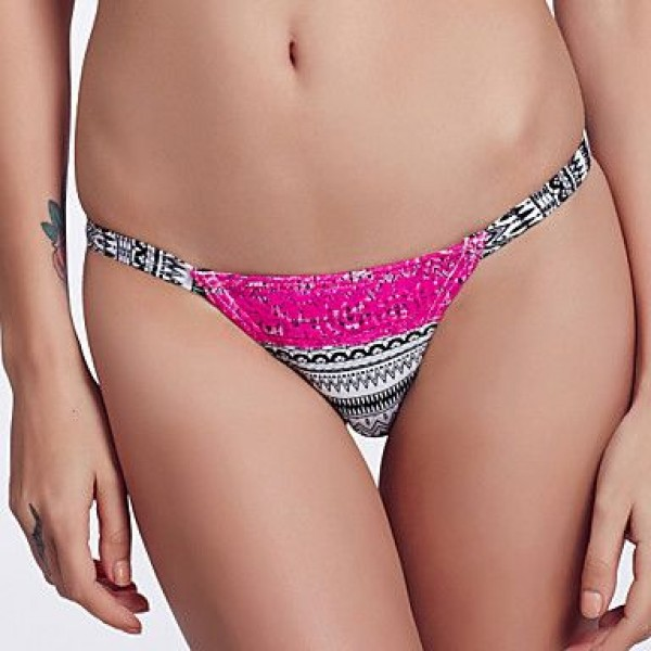 The Fille Sexy Red Lacy /Color Block/Low Rise/Ceramic Printed Triangle Bikini Panties