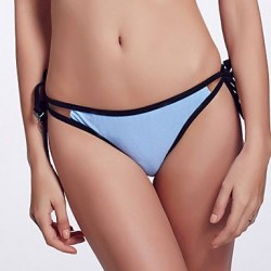 The Fille Sexy Hollowed Out Solid Triangle Bikini Panties