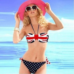 Push Up Wireless High Rise Dot Bandeau Bikinis