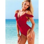Sexy Laciness Spaghetti Strap Off The Shoulder Swimwear Uk For Women Solid Color Swimsuit Uk For Women Push Up Bikini For Women