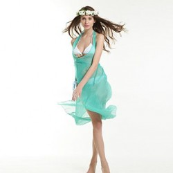 Chiffon/Polyester Fashion Sexy Solid Color Cover-Ups