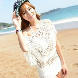 Lace/Polyester Sexy Hollow Out Kintting Cover-Ups