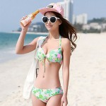 Printed Pattern With The Outer Shirt Steel Prop Bikini Three Sets Of Swimsuit Uk For Women