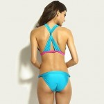 Push-up Color Block/Bandage Halter Bikinis New Style Sexy Summer Swimsuit Uk For Women (Polyester/Spandex)