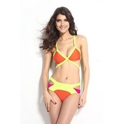 Strappy Cutout Bikini Swimsuit Uk For Women