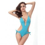 Free Shipping Hot Wholesale Vintage 2019 Push Up Padding Swimsuit Uk For Women Strappy Sexy Monokini 8 Solid Colors