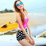 Fashion Sexy Dot Push Up High waist Bikini Set Swimwear Uk For Women Swimsuit Uk For Women Beachwear