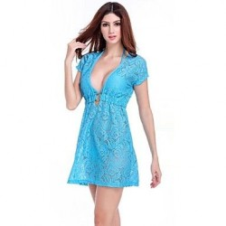 Lace/Polyester Sexy Cut Out Cover-Ups