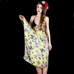 European Style Printed Small Butterfly Sling Beach Scarf