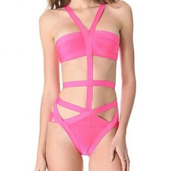 Cut-out Bandage One-piece Swimwear Uk For Women