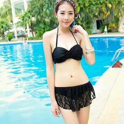 Ouzi New Arrival Lovely Princess Style Lace Push-up Bikini Swimming Suit
