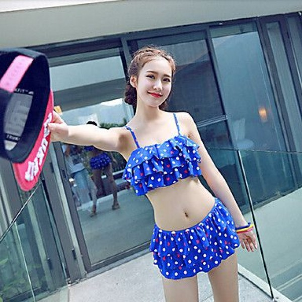 Ymeishan Sweet Girl Style Push-up Swim Dress Bikini Swimming Suit