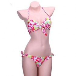 Skymoto®Floral Print Push Up Bikini Set