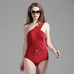 Foshion Sexy One Shoulder Oen Piece Shiny Fabrics Swimsuit Uk For Women