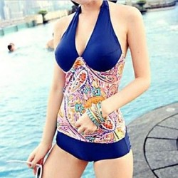 Sexy National Wind Show Thin Halter Conjoined Swimwear Uk For Women