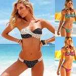Push-up/Wireless/Padded Bras Floral/Bandage Bandeau Tankinis (Cotton Blends/Polyester/Spandex)