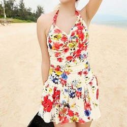 Special Fashion Bright Colors Sweet Style Nylon And Spandex One Pieces Swimsuit Uk For Women
