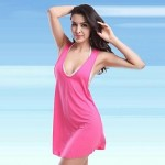 Nylon/Polyester Sexy Solid Color Cover-Ups