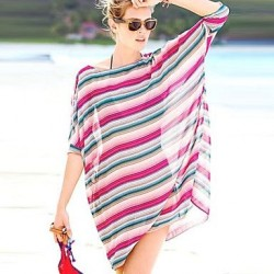Stripes Chiffon Beach Dress