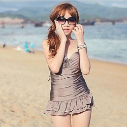 Fashion Slim Fit One-piece Underwire Padded Swimsuit Uk For Women