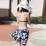 Fashion Sexy Flower Pattern Skirt Style Steel Toby Gini Boxer Swimsuit Uk For Women