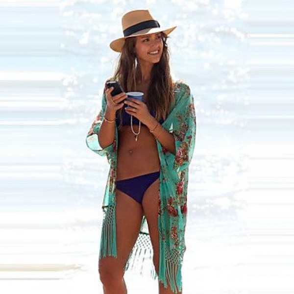 2019 Fashion V-neck Bikini Beach Cover Up Beach Wear Bathing Suit Cover Beach Clothing