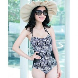 Sexy Gauze Summer Beach Push Up Black Stitching Floral One Pieces Swimwear Uk For Women